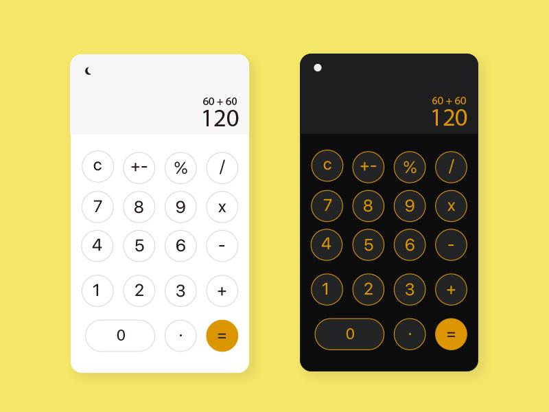 Daily UI Challenge - Day 4 calculator uidesign uxdesign design app ui dailyui