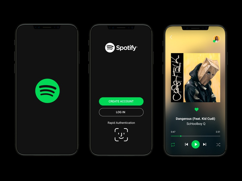 Daily UI Challenge - Day 9 musicapp music redesign concept redesigned redesign spotify simple schoolboy q branding ux uidesign app web ui design uxdesign dailyui