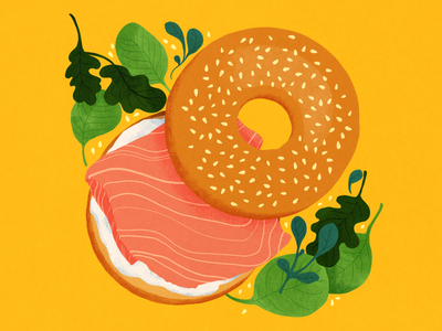 Lunch time! limited palette food illustration food digital illustration illustration