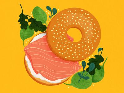 Lunch time! limited palette food illustration food digital illustration illustration