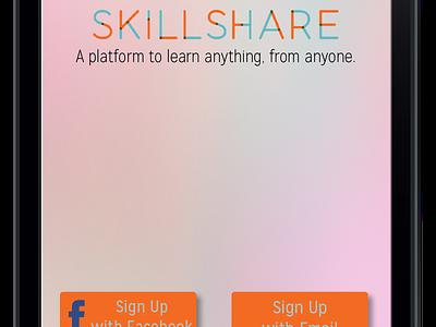 Skillshare App Mockup Splash Screen skillshare app mobile iphone application mockup