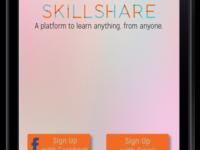 Skillshare App Mockup Splash Screen