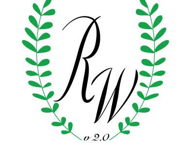 RW V 2.0 Logo  logo branding identity lettering illustrator type typography