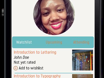 Skillshare App Mockups Dashboard ux design skillshare app mockup mobile iphone ios ux ui