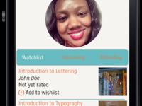 Skillshare App Mockups Dashboard