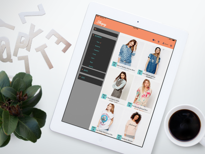 Shopsy E-Commerce iPad App ipad app shopsy shop ecommerce asos ux ui apple pacifico avenir