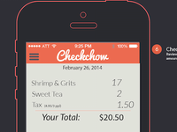 Checkchow Check Review Screen