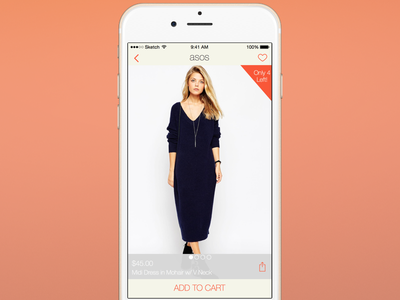Day 002 - Product Page dress iphone shopping ecommerce product mobile ios ux ui