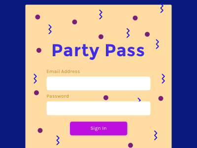 Daily UI 001 - Sign In  ux signin party ui dailyui