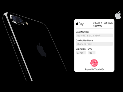 Daily UI 002 - Credit Card Checkout  iphone iphone7 ios10 sf checkout credit card credit pay apple pay apple ui