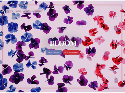 Daily UI 003 - Landing Page floral flower flowers bloom landing landing page 003 daily ui dailyui