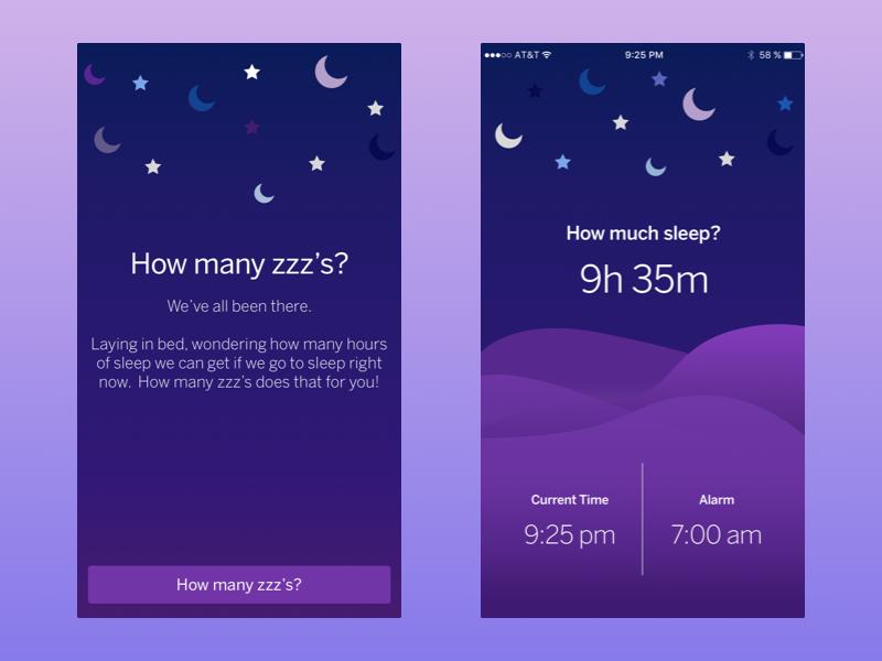 Daily UI 004 - Sleep Calculator night daily daily ui daily ui 004 iphone mobile ios alarm sleep ux ui