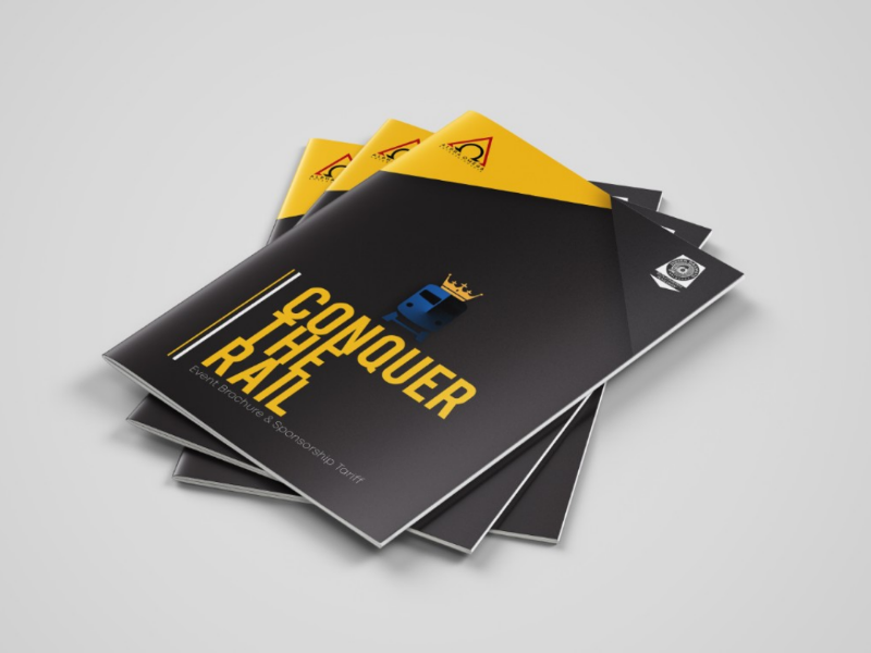 Conquer The Rail - Brochure designs brochure designs indesign products designs illustrations print designs