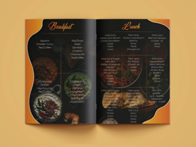 Excellent Event Organizers and catering service-Brochure Design