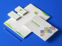 LeCurry - Visiting Card and Letter Pad Design