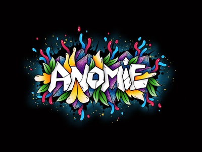 Anomie - custom lettered logotype procreate custom lettering graffiti goodtype hand drawn type hand lettering logotype hand lettered