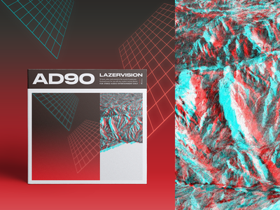 "AD90 ""Lazervision"" album artwork design retrowave 80s album cover album art graphic design beat tape beats music"