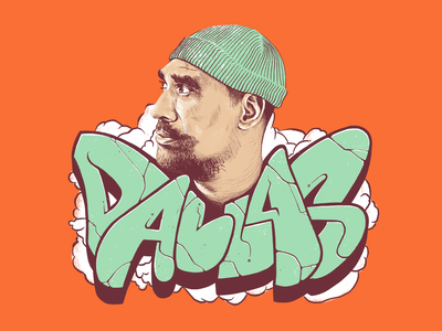 Dallas Tamaira, aka Joe Dukie, from Fat Freddy's Drop ipadpro procreateart digitaldrawing digitalsketch goodtype handdrawntype type handlettering graffiti illustration drawing nzmusic procreate sketch portrait fatfreddysdrop