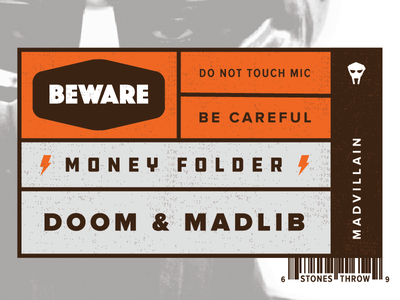 Madvillain - Money Folder mf doom doom stones throw madlib madvillain rogie