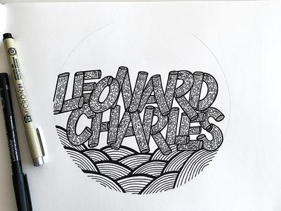 Leonard Charles hand lettering