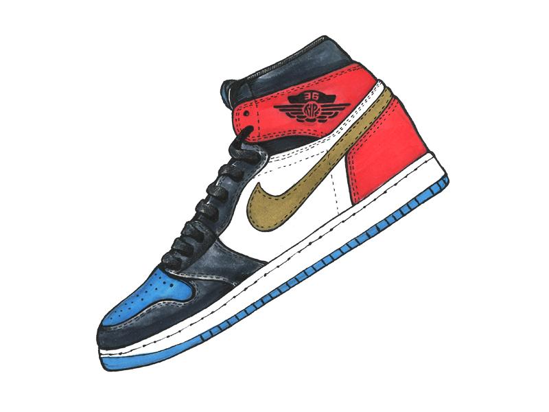 """36 days of type - """"J is for?"""" mj air jordan sketch markers illustration nike sneakers kicks michael jordan jordan retro 1 retro jordan"""