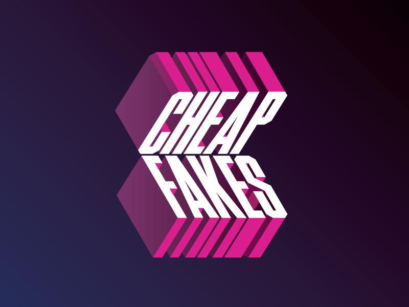 Cheap Fakes Logo shadow typography type drop shadow timmons ny 3d type logotype logo cheap fakes