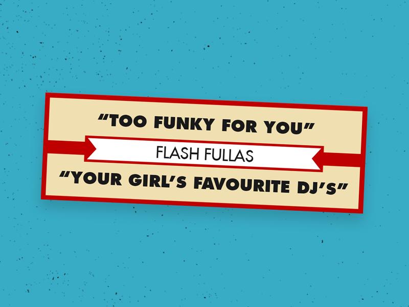 Flash Fullas Promo stickers jukebox labels flash fullas turntable funky record vinyl 45 dj