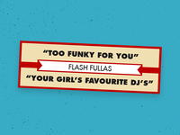 Flash Fullas Promo stickers
