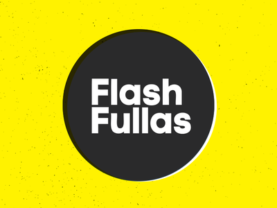 Flash Fullas Logo dj music identity branding circle logotype flash fullas logo