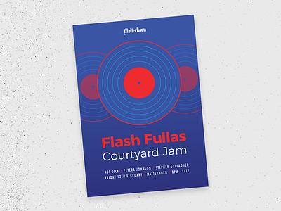 Flash Fullas gig poster music promo poster flyer music adi dick matterhorn flash fullas dj