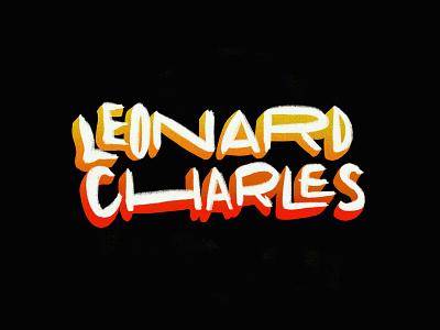 Leonard Charles artofthetitle logotype procreate handlettering handdrawntype handwritten type leonard charles