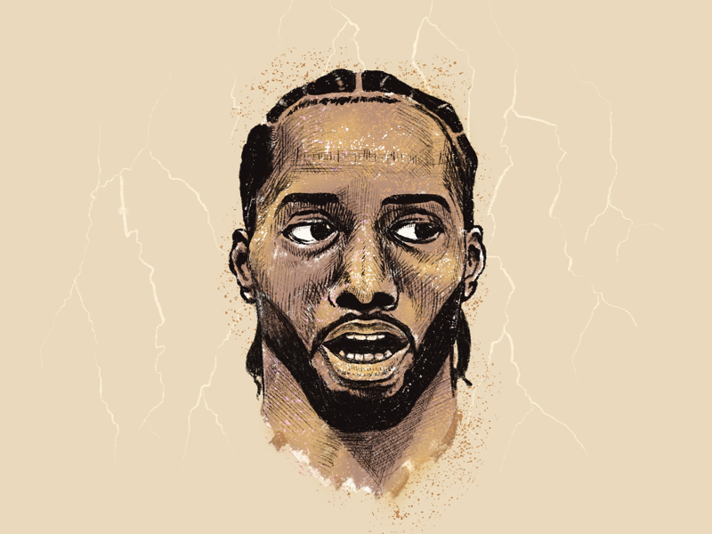Kawhi is coming! ipad art procreate sketch portrait basketball nba kawhi leonard illustration