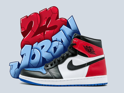 Air Jordan 1's retro kicks nicekicks procreate graffiti sneakers kicks michael jordan nike air jordan jordan 1 jordans