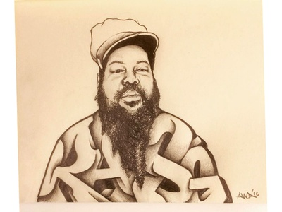 R.I.P. - Ras G  aka Gregory Shorter Jr. mpc sp404 brainfeeder stonesthrow pencil sketch sketchbook sketch illustration producer beatmaker bassistheplace ohras afrikan space program ras g