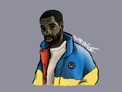Dibiase music art art illustration art labeatscene procreate art procreateapp portrait hiphop music sp-404 beatmaker sketch procreate illustration dibiase