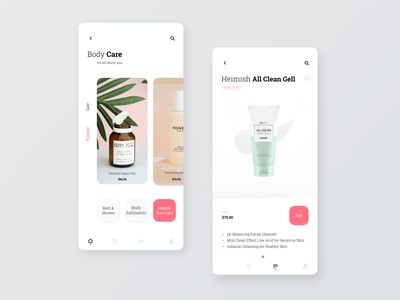 Cosmetic eCommerce Shop webdesign web uidesign ui eccomerce mobile cosmetics app