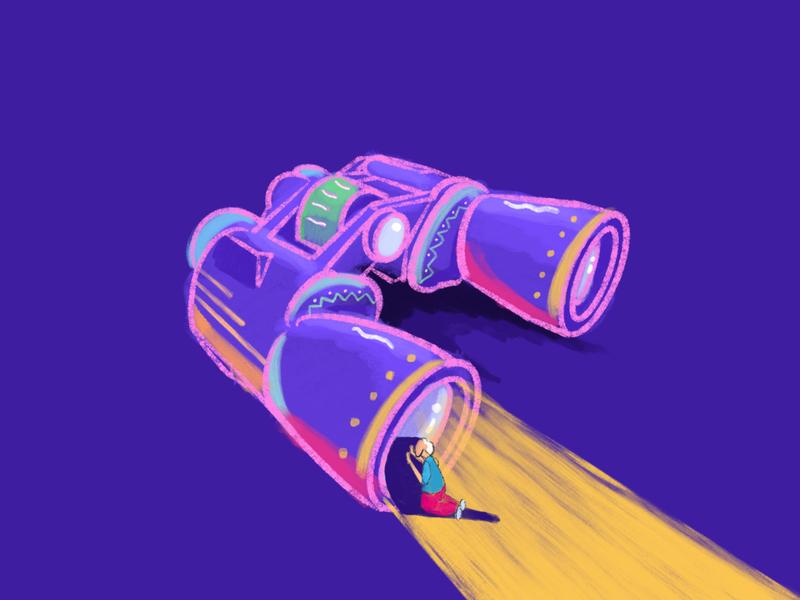 Binoculars inspiration colorfull illustration uiux ui prespective binoculars telescope