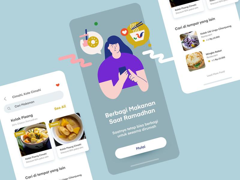Food Delivery iOS App ios app design landing vector mobile illustration illustrator uiux ui app ios app ios
