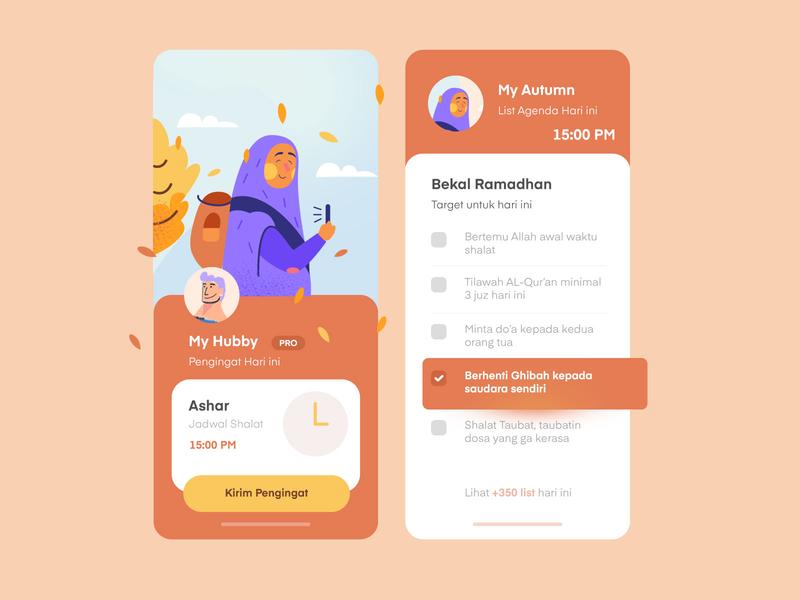 Reminder Seasons iOS mobile app seasons autumn clean illustration ios app design mobile app ux uiux ui