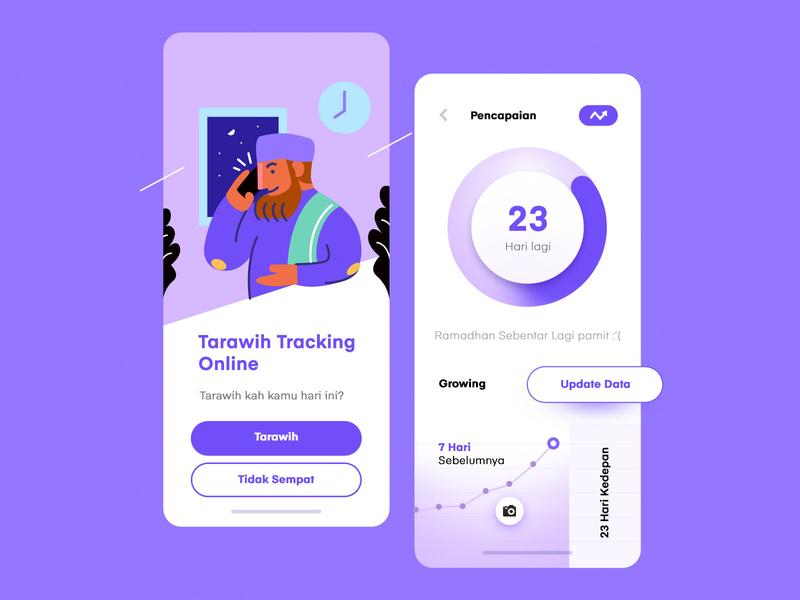 Tracking App iOS inspiration illustration vector clean mobile app design app ux uiux ui