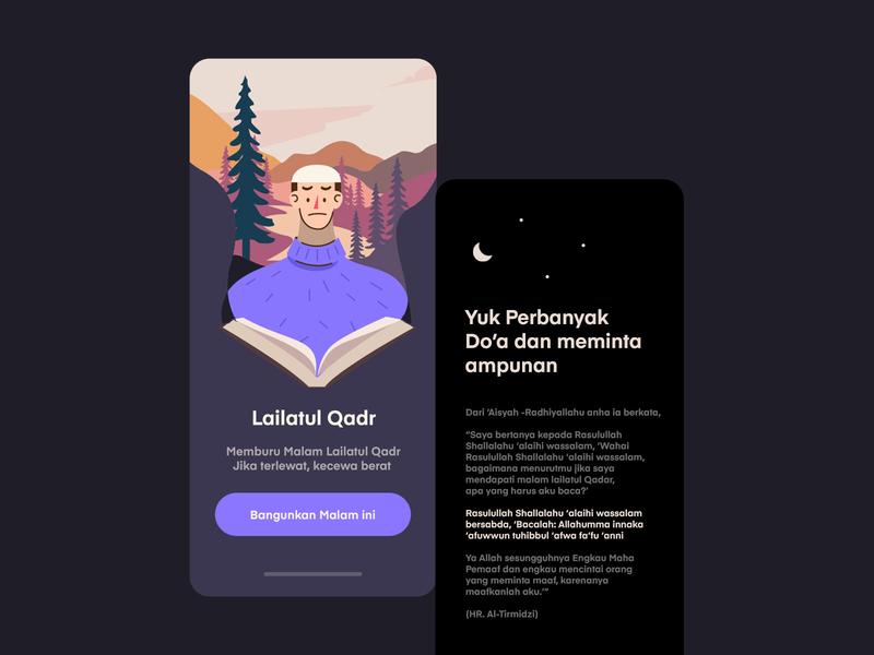 Reminder Mobile App iOS mountain logo mountain landscape landing page ui uiux vector purple app inspiration mobile illustration ux ui