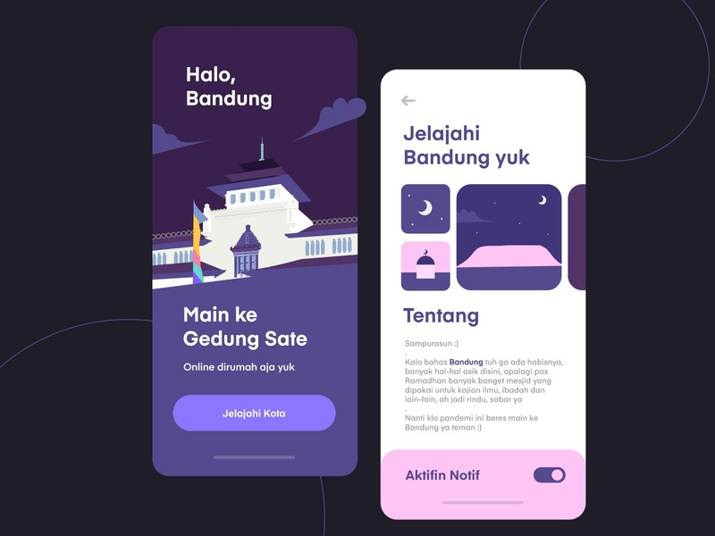 Mobile City App iOS ios landing page realestate building city travel inspiration purple app mobile illustration ux uiux ui