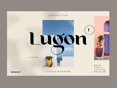 Lugon - Classic Modern Homepage luxury uiux homepage ui clean modern classic font fonts classic dahsboard homepage magazine landing website slider