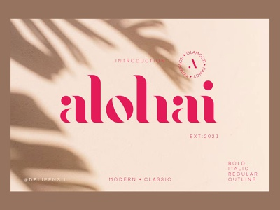 Alohai Feminim Serif Typeface typography font family book title poster magazine dashboard beauty font design red feminim serif font stylish mode fonts