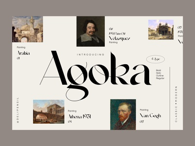 Agoka - Classic Modern Homepage website landing magazine slider homepage dashboard fonts classic font modern clean homepage ui uiux luxury classic