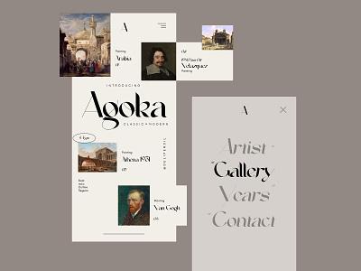 Agoka Font - Mobile UI typography font fonts ios uiux clean app inspiration mobile illustration ux ui