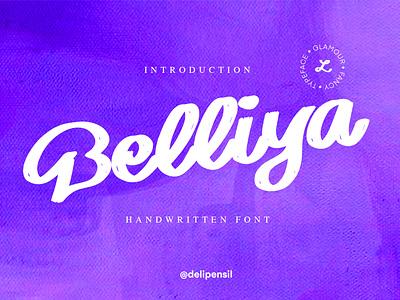 Belliya - Handwritten Font lettering hand lettering handlettering magazine branding typogaphy handwritten logo fonts handwrittenfont handwritten