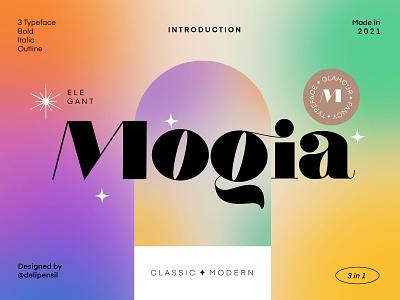 Mogia - Modern Classic Typeface elegant serif colorfull rainbow vibrant modern classic logo color gradient fonts font