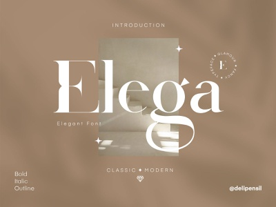 Elega - A Classic Modern Font clean classic ux ui font design typography typeface fonts font