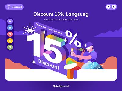 Slider Discount Page Delipensil clean inspiration illustration ux ui promo free discount homepage slider website